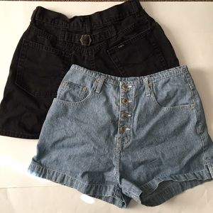2 pairs of vintage high waisted mom shorts